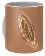 Beige Satin Oval 1 Coffee Mug