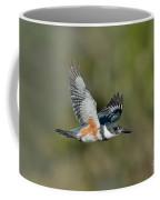 Belted Kigfisher Female Flying Coffee Mug
