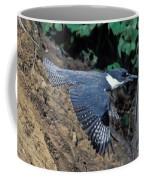 Belted Kingfisher Leaving Nest Coffee Mug