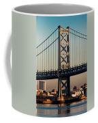 Ben Franklin Bridge Over Delaware River Coffee Mug