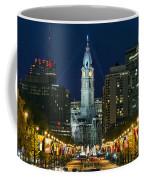 Ben Franklin Parkway And City Hall Coffee Mug