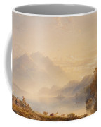 Ben Venue And The Trossachs Seen From Loch Achray Coffee Mug