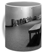 Bench Alone In Pre-show Gallery Coffee Mug