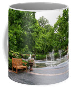 Bench And Fountain Coffee Mug