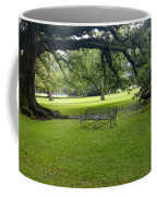 Bench At Oak Alley Plantation Coffee Mug