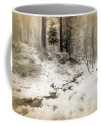 Bench By Creek Coffee Mug