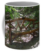 Bench Made Of Tree Branches Coffee Mug