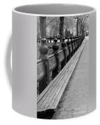 Bench Row Black And White Coffee Mug