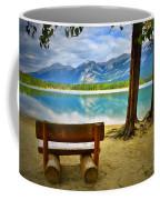 Bench View At Lake Edith Coffee Mug