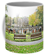 Benches By The Cemetery Coffee Mug