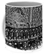 Benches In The Snow - Bw Coffee Mug