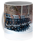Benches In The Snow Coffee Mug