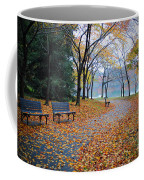 Benches Of Fall Coffee Mug