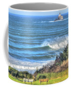 Benches On The Beach Coffee Mug