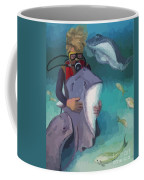 Benevolent Creatures At Stingray City Coffee Mug