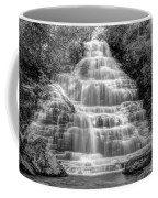 Benton Falls In Black And White Coffee Mug
