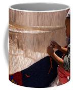 Berber Girl Working On Traditional Berber Rug Ait Benhaddou Southern Morocco Coffee Mug by Ralph A  Ledergerber-Photography