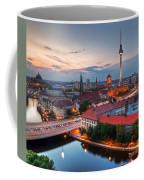Berlin Germany Major Landmarks At Sunset Coffee Mug