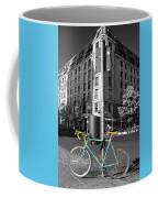 Berlin Street View With Bianchi Bike Coffee Mug by Ben and Raisa Gertsberg