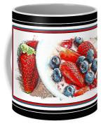 Berries And Yogurt Illustration - Food - Kitchen Coffee Mug