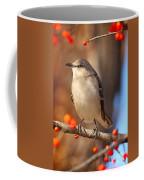 Berry Happy Mockingbird Coffee Mug