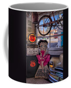 Betty Boop At Albuquerque's 66 Diner Coffee Mug