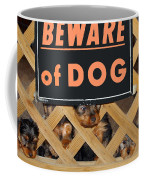 Beware Of Dog Coffee Mug by John Dauer