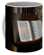 Bible Open On A Lectern Coffee Mug