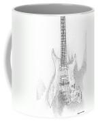 Bich Electric Guitar Sketch Coffee Mug