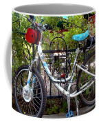 Bicycle At St Francis Cafe Coffee Mug