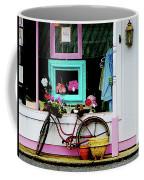 Bicycle By Antique Shop Coffee Mug