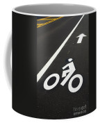 Bicycle Lane Coffee Mug by Olivier Le Queinec