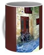 Bicycle Of Santorini Coffee Mug