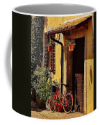 Bicycle Under The Porch Coffee Mug