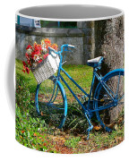 Bicycle With Basket Of Flowers Coffee Mug