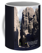 Bicyclist And Granite Spires Coffee Mug