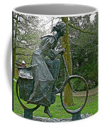 Bicyclist Sculpture In The Park In Leeuwarden-netherlands Coffee Mug