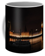 Big Ben And The Houses Of Parliment On The Thames Coffee Mug