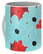 Big Blue Flowers Coffee Mug