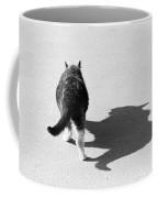 Big Cat Ferocious Shadow Monochrome Coffee Mug
