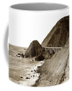 Big Creek Bridge Double Arched Concrete Bridge On Highway 1. About 40 Miles South Of Monterey  1935 Coffee Mug