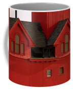 Big Red Holland Harbor Light Michigan Coffee Mug by Michelle Calkins