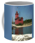 Big Red Holland Michigan Lighthouse Coffee Mug