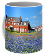 Big Red House On Bluebonnet Hill Coffee Mug