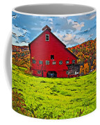Big Red Line Art  Coffee Mug
