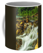 Big River  Waterfall And Dam Coffee Mug