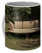 Big Stone Bench Inside The Garden Of 5 Senses Coffee Mug