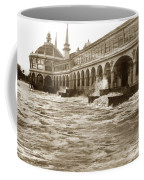 Big Storm Waves At Santa Cruz Beach And Casino And Beach Ca Circa 1925 Coffee Mug