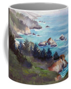 Big Sur In The Mist Coffee Mug by Karin  Leonard