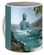 Big Sur Tea Garden Buddha Coffee Mug by Alixandra Mullins